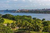 Sea port in Havana. Cruise ship in the port. Cuba