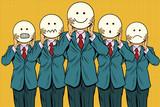 Vintage set of smiley face Emoji people