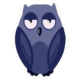 illustration blue owl