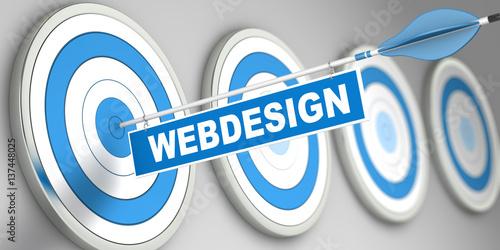Poster  WEBDESIGN / Target / 3d