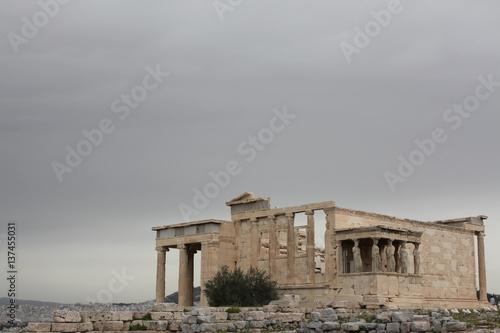 Ancient ruins of the Erechtheum, Athens Acropolis, Greece