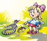 girl and snake