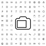 camera display icon illustration