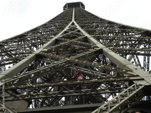 In de dag Parijs Parigi - struttura della Torre Eiffel