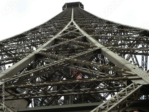 Deurstickers Parijs Parigi - struttura della Torre Eiffel