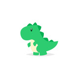 Cute Dinosaur Tyrannosaurus Cartoon  Wall Sticker