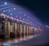 Banpo bridge at night