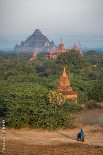 Ancient pagoda in Bagan, Myanmar Poster
