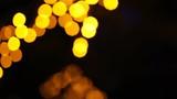 Beautfull yellow balls background, bokeh