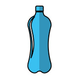 bottle drink silhouette isolated icon vector illustration design