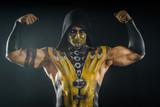 Professional make-up and body-art scorpion