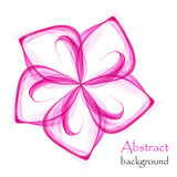 Logo with pink flower