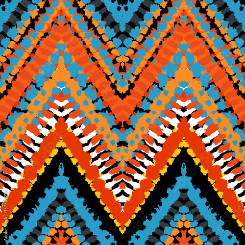 Cotton fabric chevron pattern