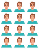 Male Facial Expressions Set