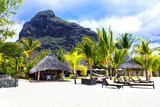 Relaxing holidays in tropical paradise. Mauritius island