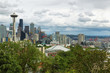 Space needle and other buildings of Seattle Skyline