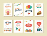 Set of Birthday Greeting and Invitation Card - 137523878