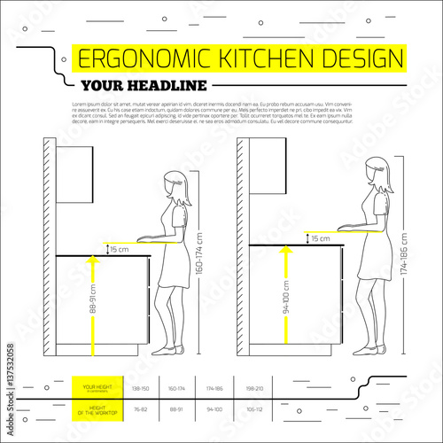 Ergonomic Kitchen Design Interesting Design