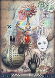 Gothic and macabre graffiti background
