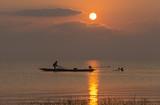 Sunrise at Parpra, Songkhla lake, Thailand.