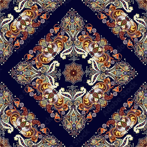 Muster mit indischen Motiven - 137545222