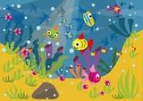 Fototapeta Do akwarium - podwodny świat © monikakosz
