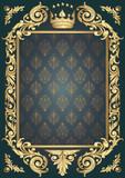Ornate retro blank - 137560237
