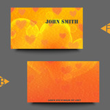 Business card template with love background. Eps10 Vector illustration
