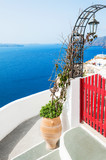 Santorini island, Greece. Summer landscape, sea view