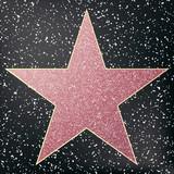 Walk of fame star. Star hollywood. Vector illustration.