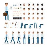 Person Creation Set in Simple Cartoon Design.