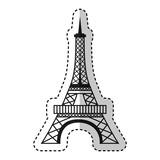 eiffel tower isolated icon vector illustration design