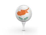 Golf ball Cyprus flag