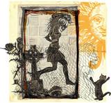 run punk, run - an hand drawn vector, freehand sketching - 137596015