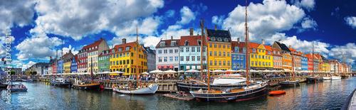Colorful houses at Nyhavn, Copenhagen, Denmark