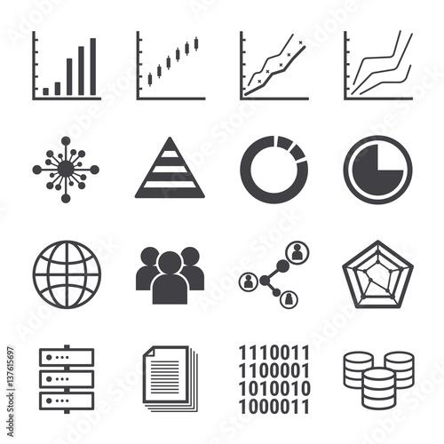 analytics icon set