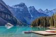 Moraine Lake Canoes, banff national park, alberta, canada