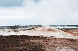 Gunnuhver geothermal area in Iceland
