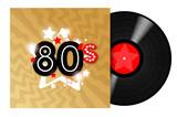Fototapety 80's Record LP / 33 tours eighties