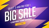 big sale banner design template in vector