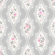 seamless floral pattern with lace and roses