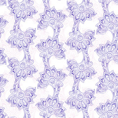 indian style floral seamless pattern. vector background © meduzzza
