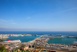 Port of Barcelona at Mediterranean Sea