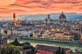 Twilight of Duomo Florence in Florence, Italy