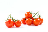 Brunch of cherry tomatoes isolated on a white background