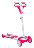 Kick scooter on white background