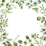 Watercolor floral fr...