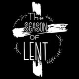 Handwritten word The season of Lent.   Start of fasting, The symbol of the Christian religion. Vector design. Hand illustration.