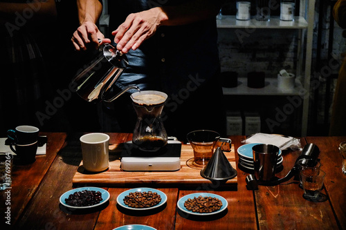Hand drip coffee or Pour over coffee