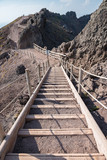 Stairs on footpath around the crater of Vesuvius